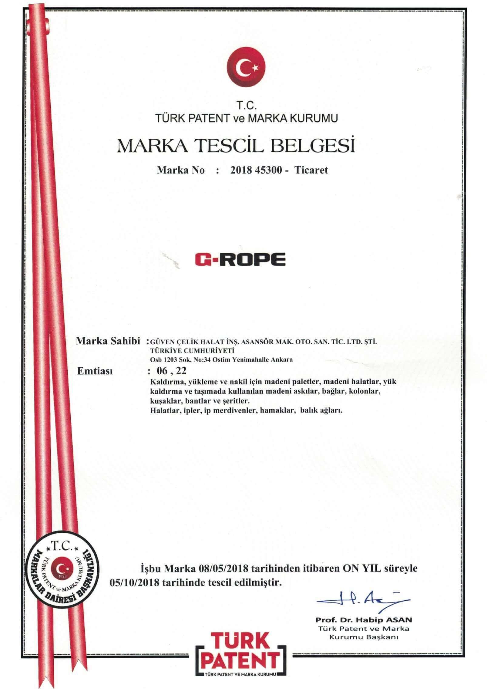 Marka Tescil Belgesi 3