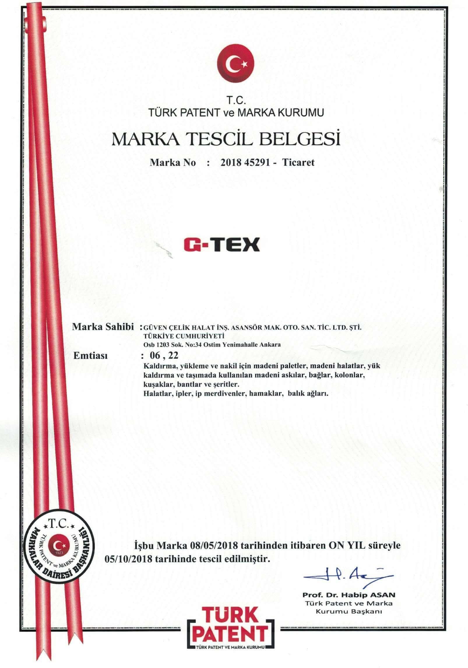Marka Tescil Belgesi 2