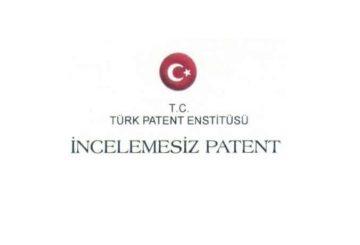 Türk Patent Enstitüsü İncelemesiz Patent Sertifikası